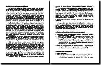 Les révisions de la Constitution indienne