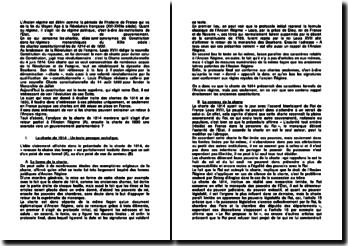 Les chartes constitutionnelles de 1814 et de 1830