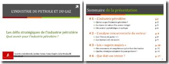 Les défis stratégiques de l'industrie pétrolière : Quel avenir pour l'industrie pétrolière ?