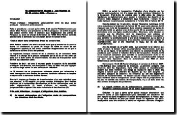 Commentaire d'arrêt rendu par le Conseil d'Etat le 30 octobre 2009 : le recours dirigé contre un acte administratif individuel