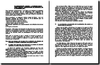Commentaire de l'arrêt du Tribunal administratif de Montreuil du 22 novembre 2011 : la laïcité et neutralité du service public