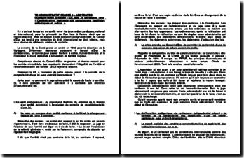 Commentaire de l'arrêt du Conseil d'Etat rendu le 21 décembre 1990 : la compatibilité d'une loi avec un traité international