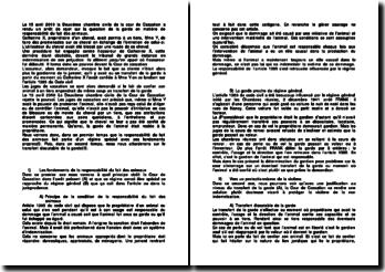 Commentaire d'arrêt de la Deuxième Chambre civile de la Cour de cassation rendu le 15 avril 2010 : la responsabilité du fait des animaux