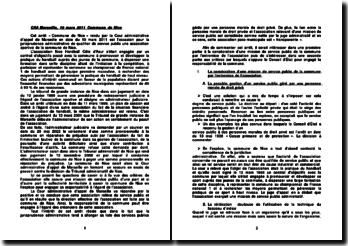 Qualification de service public d'une association sportive, commentaire d'arrêt, Cour administrative d'appel de Marseille, 10 mars 2011