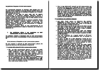 Les juridictions françaises et le droit communautaire