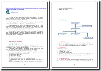 Audit Consult Moufarreh: cabinet chargé du commissariat aux comptes, conseils juridiques et financiers