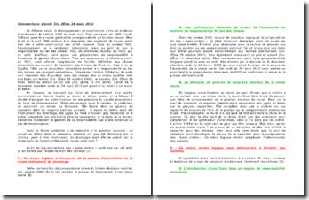 La responsabilité du fait des choses, commentaire d'arrêt, Civ. 2ème, 29 mars 2012