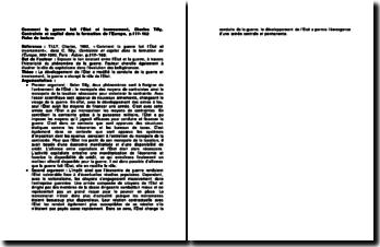Comment la guerre fait l'État et inversement, Charles Tilly, Contrainte et capital dans la formation de l'Europe, p.117-162