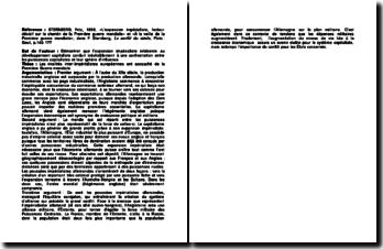 L'expansion impérialiste, facteur décisif sur le chemin de la première guerre mondiale» et «À la veille de la Première guerre mondiale», Fritz Sternberg, Le conflit du siècle, p.143-177