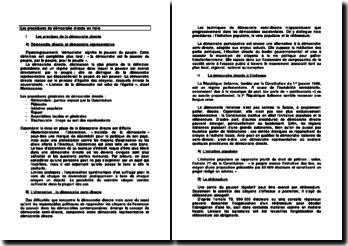 Les procédures de démocratie directe en Italie