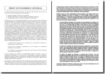 Droit économique général