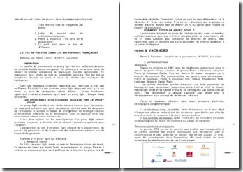 Jeux de pouvoir: luttes de pouvoir dans les entreprises françaises