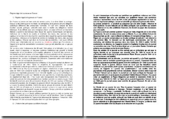 Régime légal de la presse en France