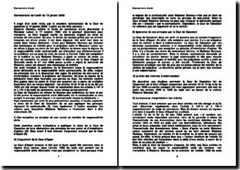 Commentaire d'arrêt de la Chambre commerciale de la Cour de cassation du 15 janvier 2002 : la responsabilité civile délictuelle et la responsabilité civile contractuelle