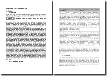 Le cumul de l'indemnité et des intérêts compensatoires rendant excessif le montant de la clause pénale, commentaire d'arrêt, Civ. 1ère, 2 décembre 1992