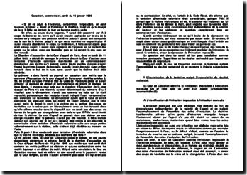 Commentaire d'arrêt de la Cour de cassation du 16 janvier 1986 : la tentative d'homicide volontaire sur une personne déjà décédée