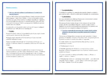 Qu'est ce qui peut expliquer la prédominance d'Actimel sur le marché français ?