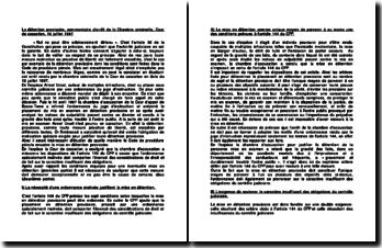 La détention provisoire, commentaire d'arrêt de la Chambre criminelle, Cour de cassation, 16 juillet 1997
