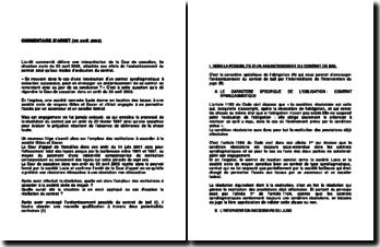 Commentaire de l'arrêt de la Troisième Chambre civile de la Cour de cassation en date du 30 avril 2003 : les effets de l'anéantissement du contrat