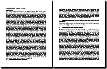 « Sources de droit et affaire Perruche »