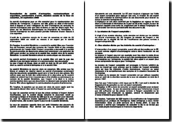 Consultation du comité d'entreprise, restructurations et expertises, commentaire d'arrêt, chambre sociale de la Cour de cassation, 23 septembre 2008