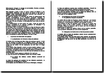 Détournement d'argent et principe de territorialité, Chambre criminelle, Cour de Cassation, 12 février 1979