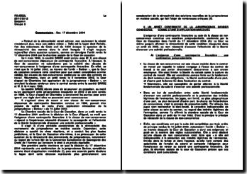Commentaire d'arrêt de la Chambre sociale de la Cour de Cassation rendu le 17 décembre 2004 : la rétroactivité des revirements de jurisprudence
