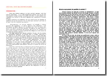 Droit des contrats spéciaux: les contrats translatifs de propriété et les contrats de service