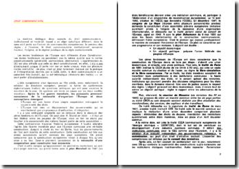 Droit communautaire : la nature juridique et le fonctionnement de l'Union européenne