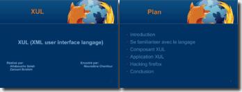 XUL (XML user interface langage)