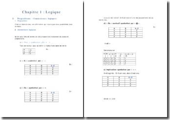 La logique : connecteurs logiques et quantificateurs