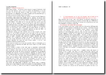 Commentaire de l'arrêt de rejet de la Cour de cassation du 10 mars 2010 : la licéité de la clause d'un bail