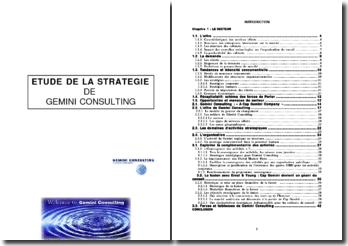 Etude de la stratégie de Gemini Consulting