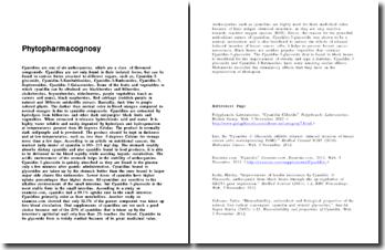 Phytopharmacognosy