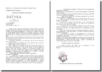 Etude de cas : l'entreprise de cosmétiques française Patyka