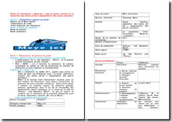 Projet de l'entreprise « Meye-jet » pour la vente, location et la réparation des motos jet-ski
