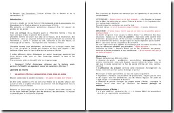 La Bruyère, Les Caractères, Critique d'Arrias (De la Société et de la conversation, 9)