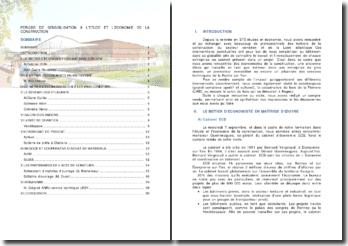 Période de sensibilisation à l'étude et l'économie de la construction