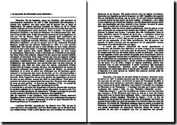 « La tyrannie de Périandre sous Corinthe », Hérodote