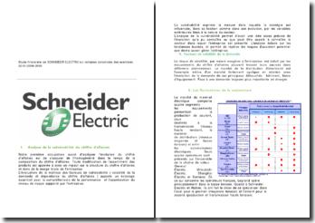 Etude financière de SCHNEIDER ELECTRIC sur comptes consolidés des exercices 2010-2009-2008