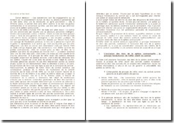 Le contrat et les tiers - exclusion de la sphère contractuelle et exceptions à l'effet relatif du contrat