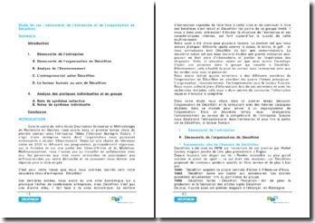 Etude de cas : découverte de l'entreprise et de l'organisation de Décathlon