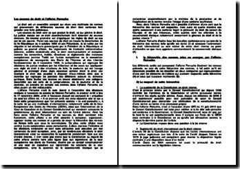 Les sources de droit et l'affaire Perruche