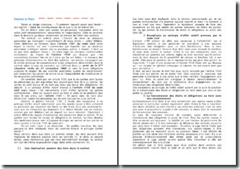 Contrat & Tiers - implication passive ou active des tiers