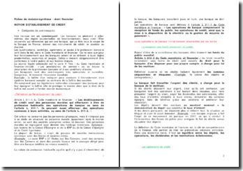Fiches de révision/synthèse : droit financier