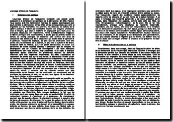 L'ouvrage d'Alexis de Tocqueville