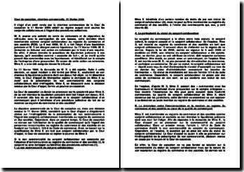 Les conjoints collaborateurs, Cour de cassation, chambre commerciale, 11 février 2004