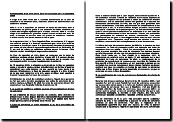 Détermination d'un codébiteur solidaire, commentaire d'un arrêt, Cour de cassation, 15 novembre 2005