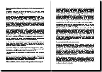 Statut d'association religieuse, commentaire d'arrêt, Cour de cassation, 17 mars 1981