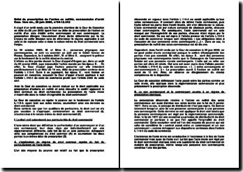 Délai de prescription de l'action en nullité, commentaire d'arrêt Cass. 1ère civ., 29 juin 2006, n 04-12.912